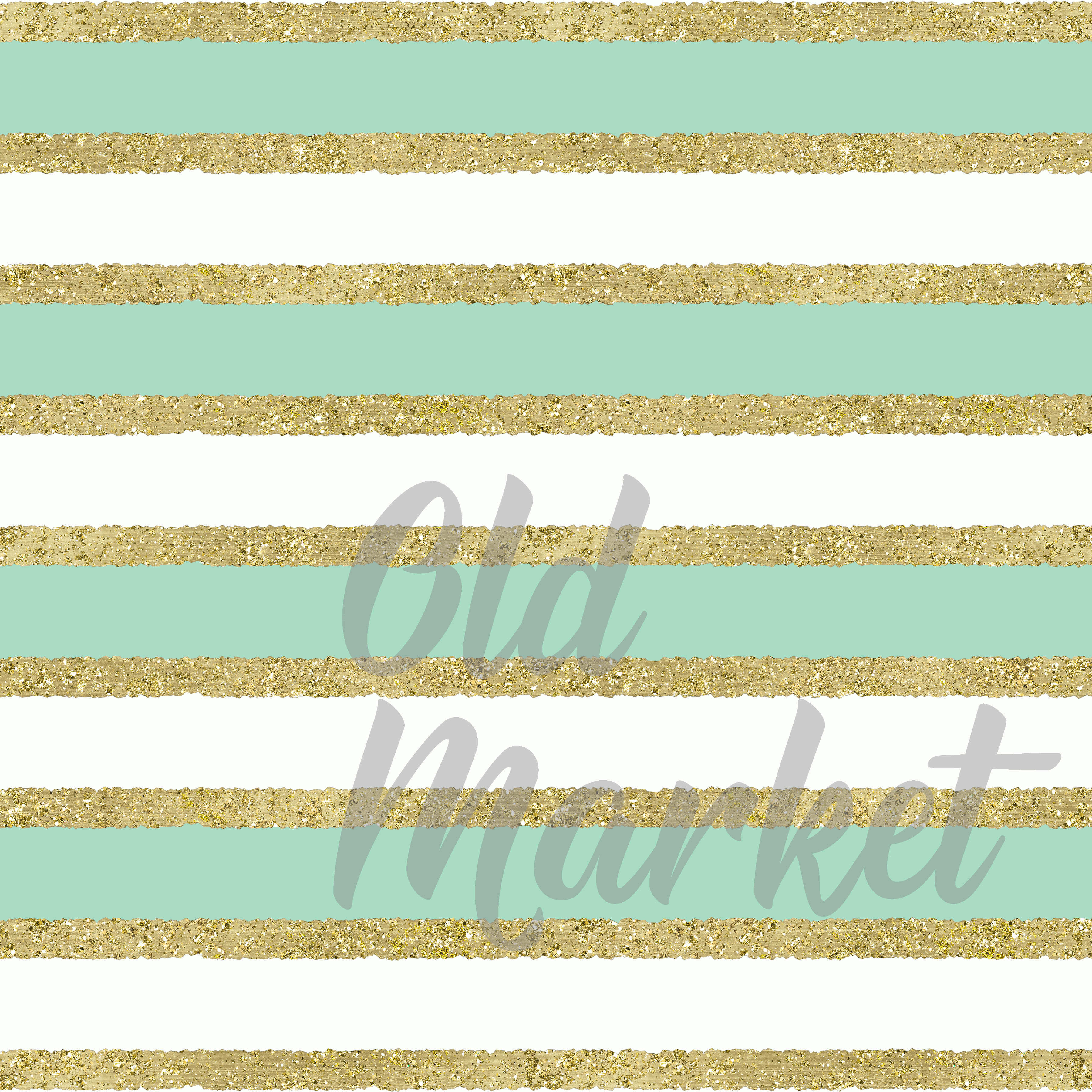 Mint and Gold Digital Paper example image 2