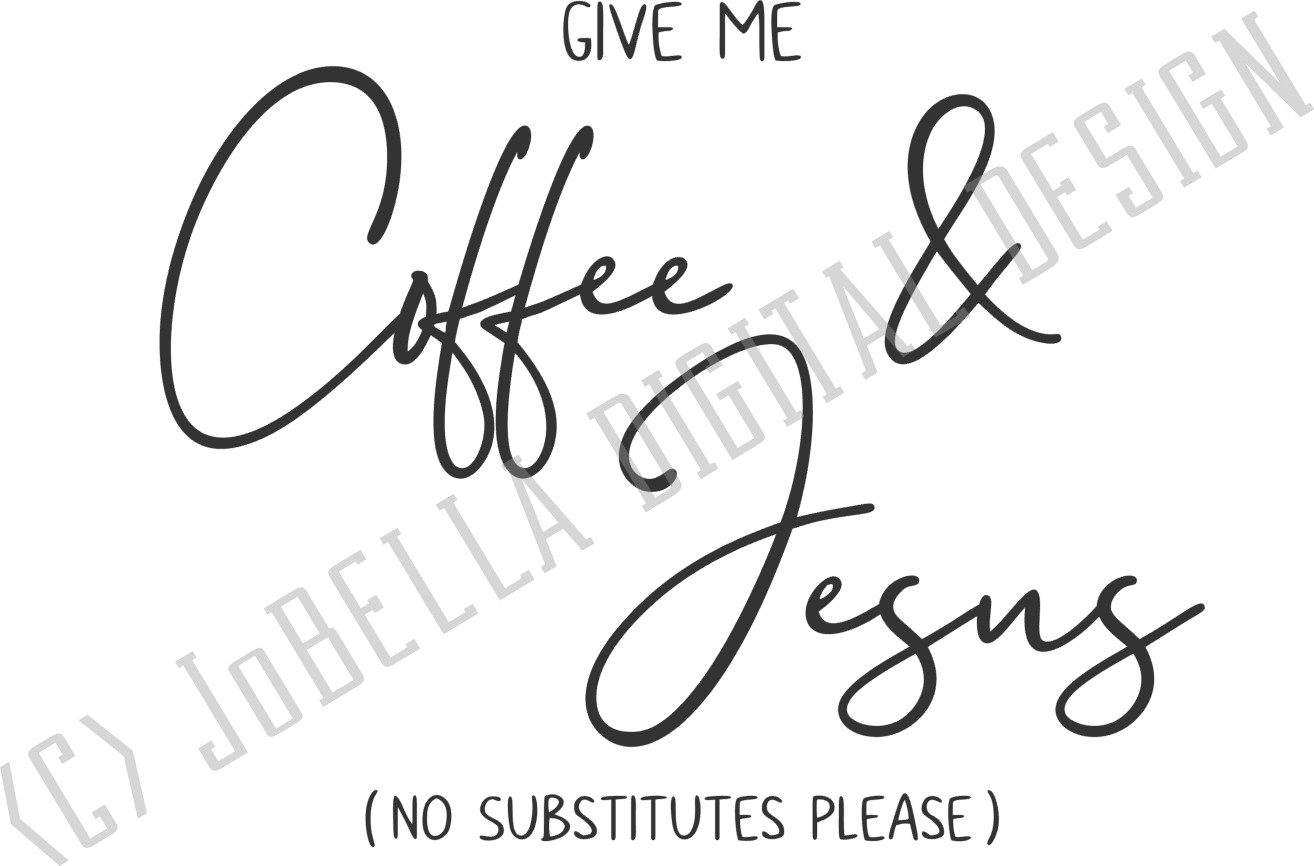 Coffee and Jesus SVG and Printable Christian Design example image 4