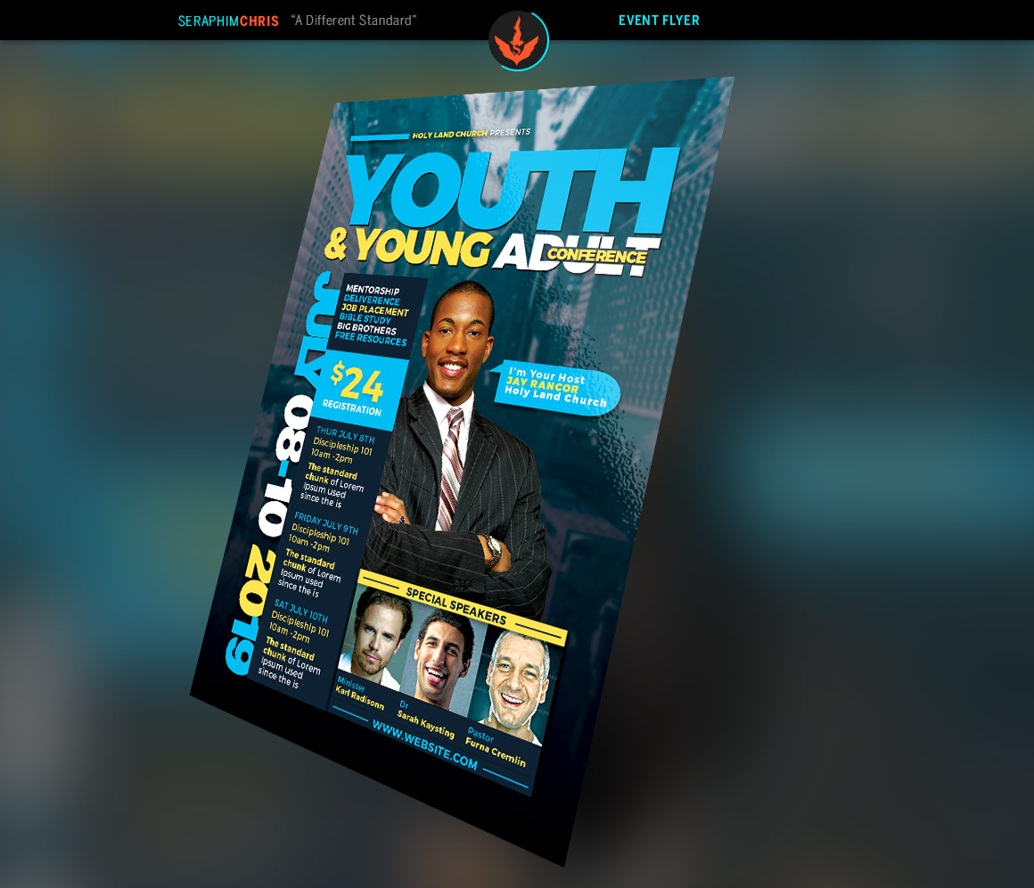 Youth & Young Adult Conference Flyer Template example image 2