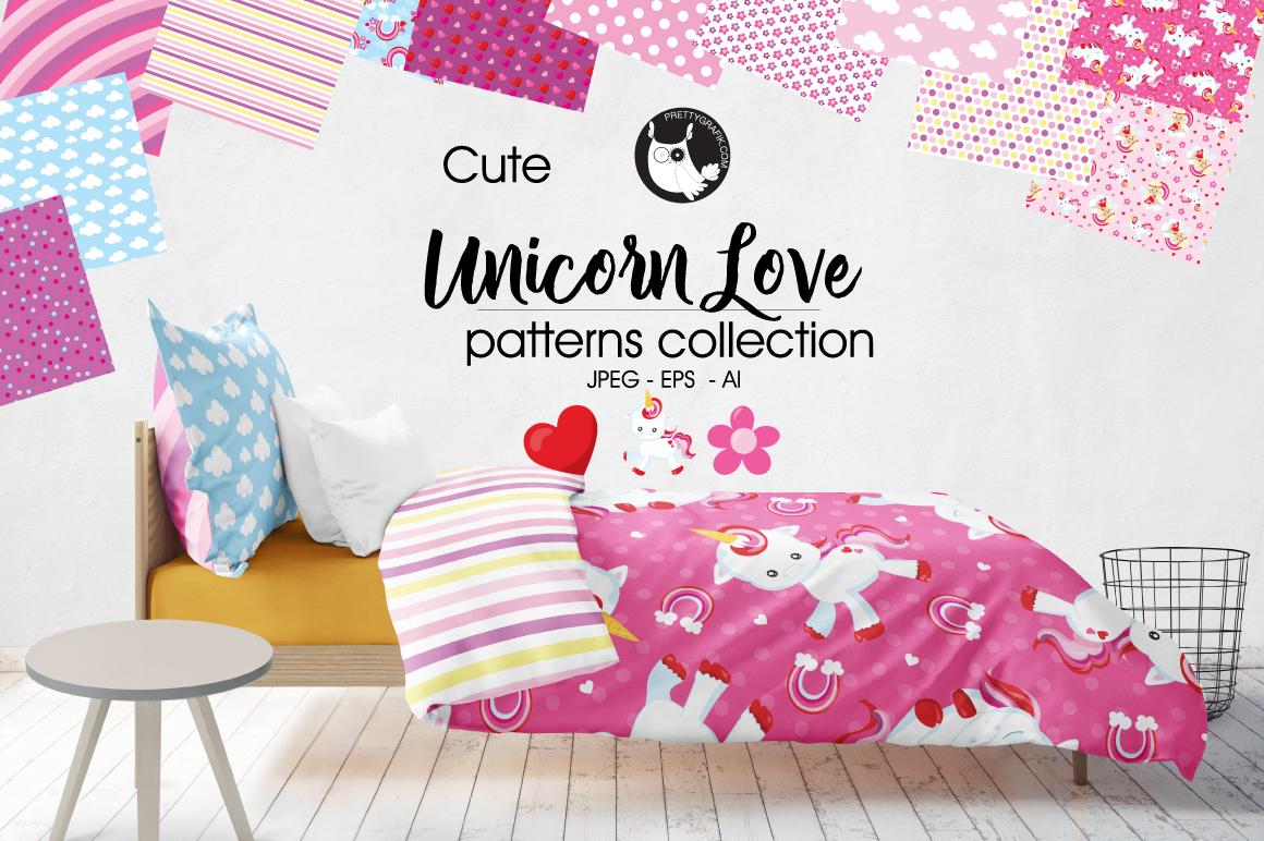 UNICORN-LOVE , digital papers example image 1