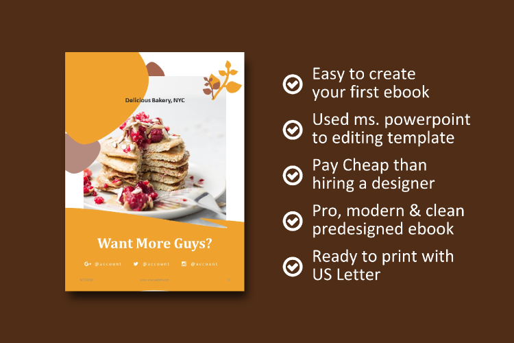 16 Pages Recipe eBook Template bakery powerpoint template example image 8