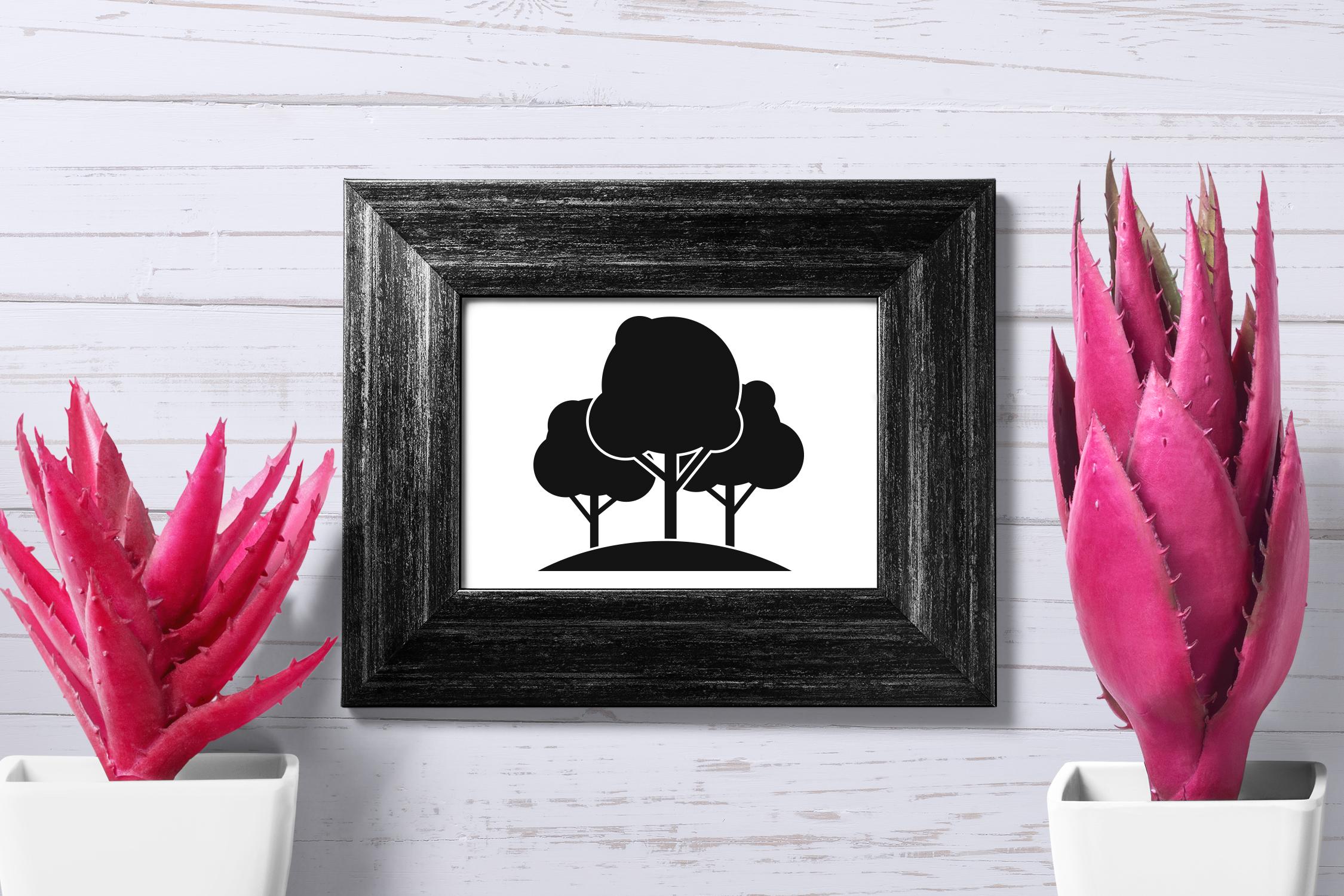 Tree icon set, simple style example image 4