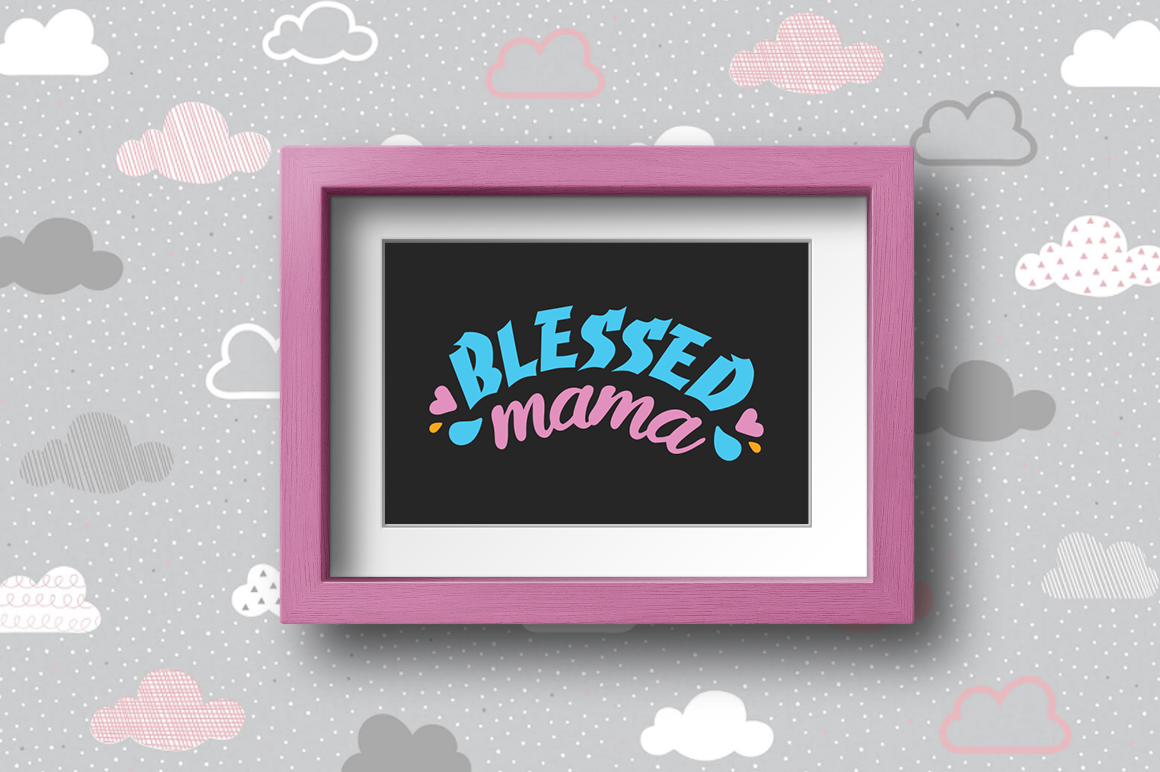Pregnancy Announcement SVG Cut Files - Blessed mama example image 2