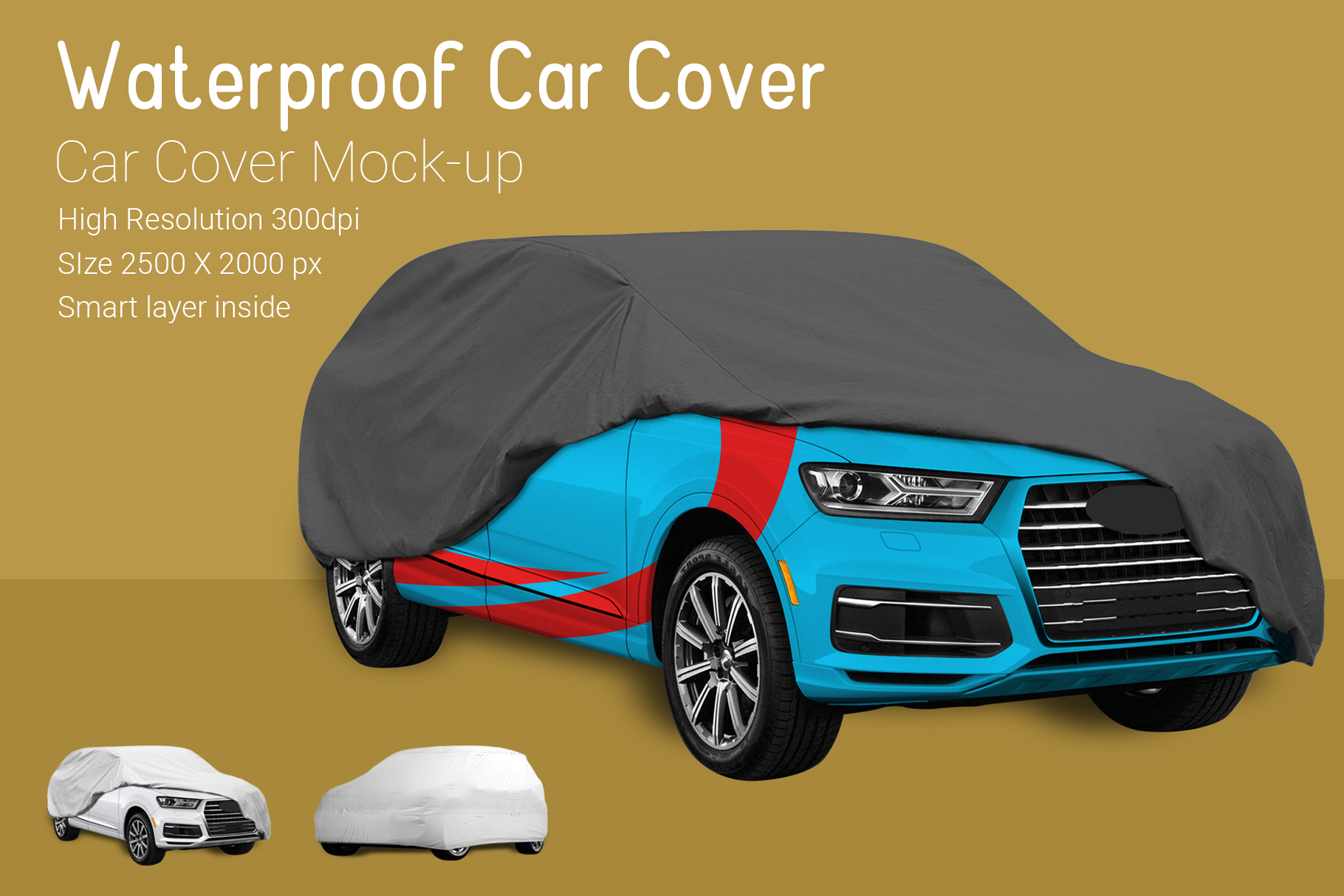 Car Cover Mock-Up example image 2