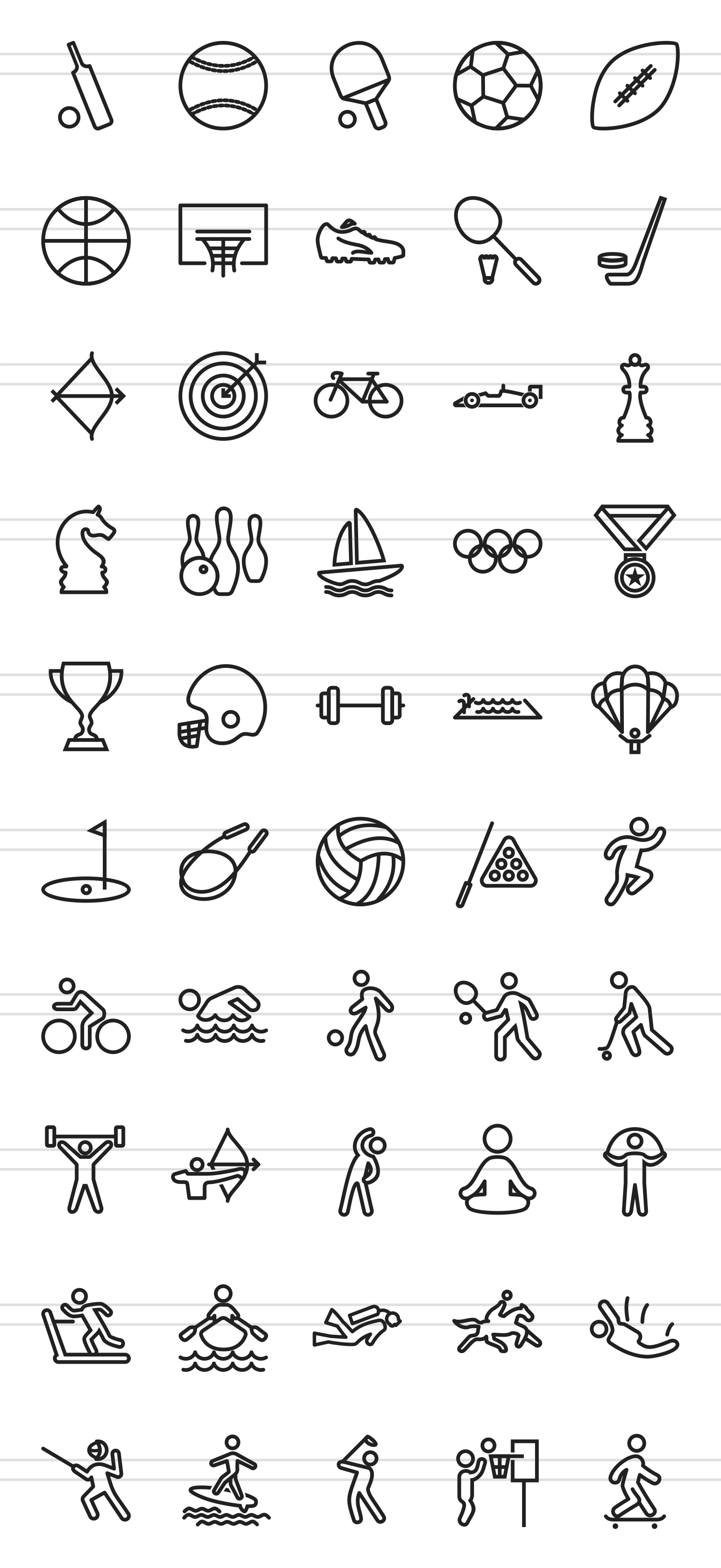 50 Sports Line Icons example image 2