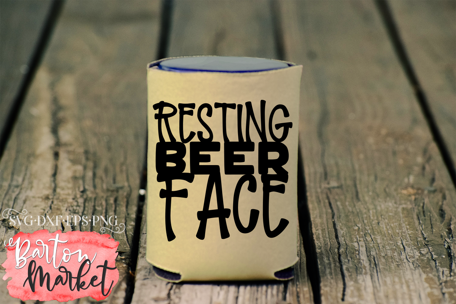Resting Beer Face SVG DXF EPS PNG example image 4