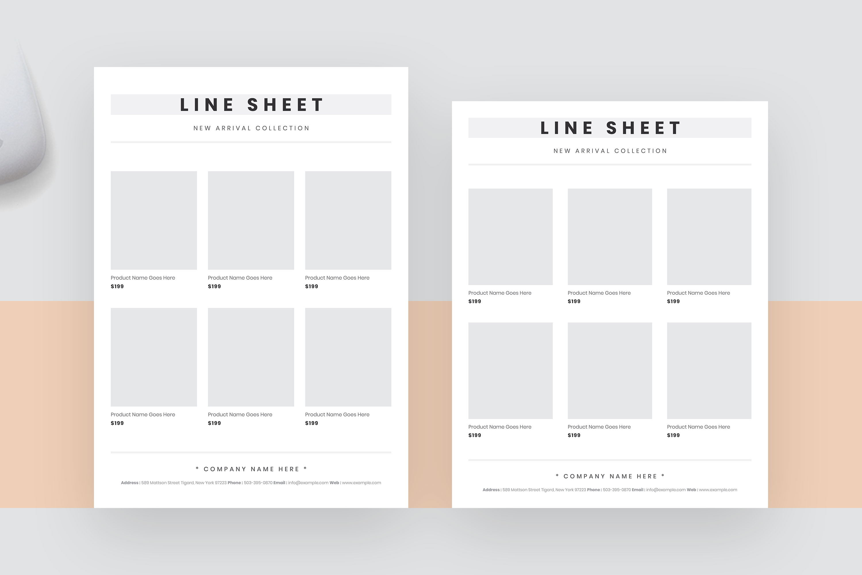 Elegant line sheet flyer template example image 2
