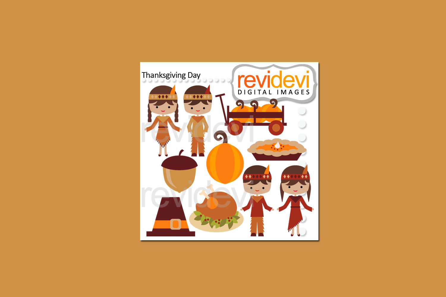 Thanksgiving Day Bundle Clipart Graphics example image 3