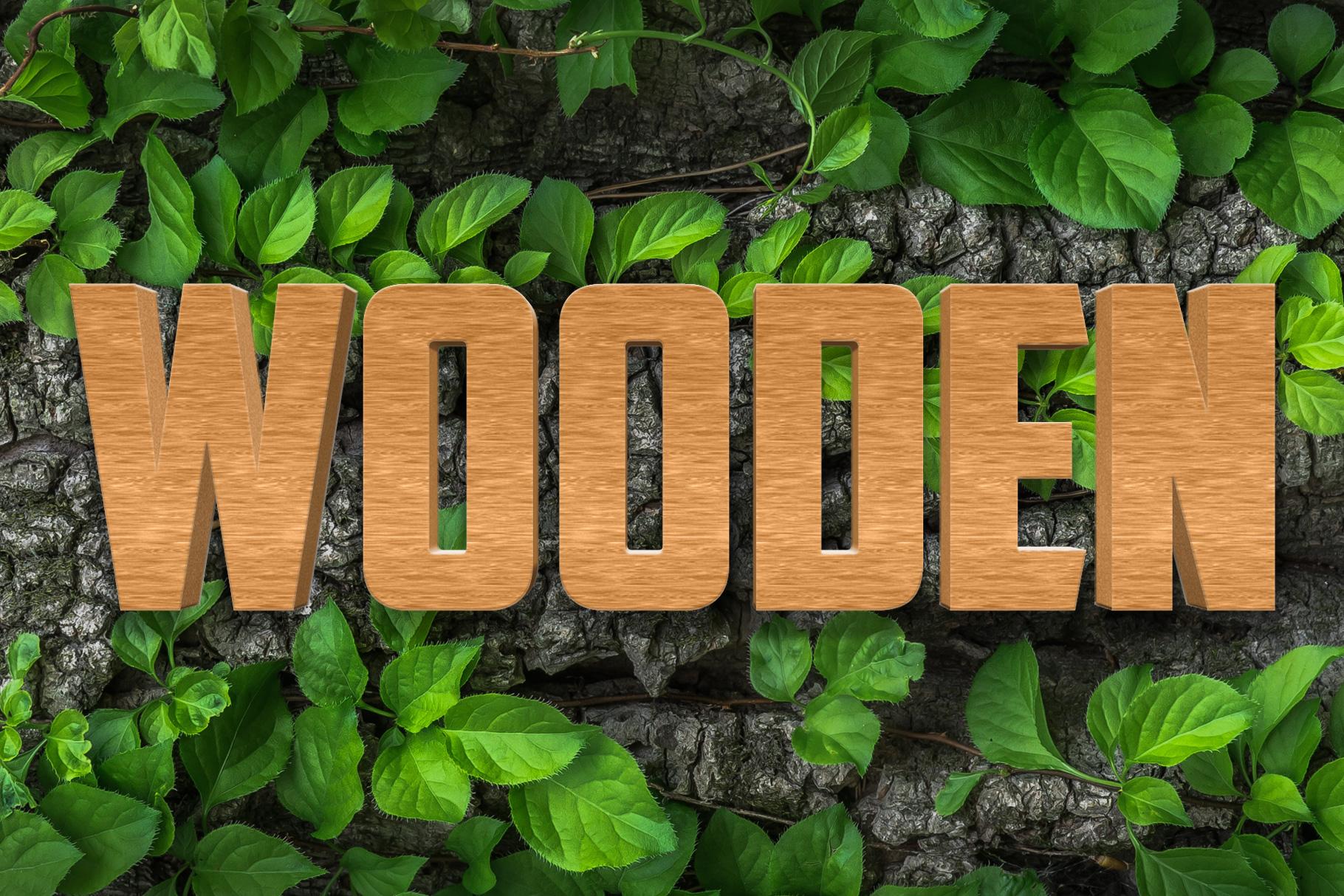 10 Wood Style for Photoshop example image 10