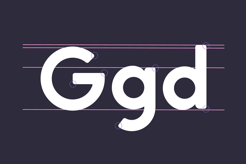 George Round 8 Fonts Round Edge Geometric Typeface example image 10