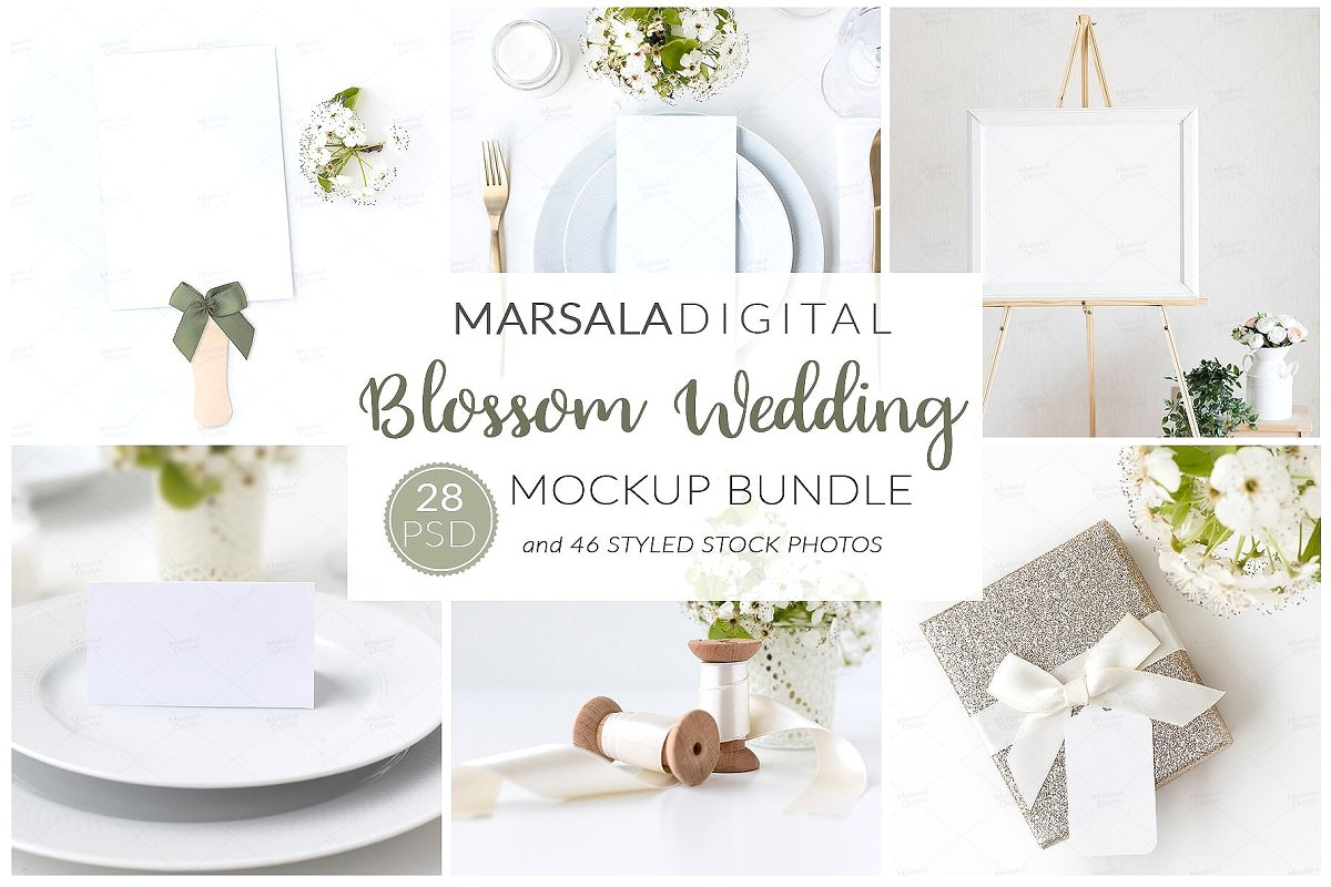 Wedding Mockup Bundle 400 Massive Wedding Mockups Bundle example image 4