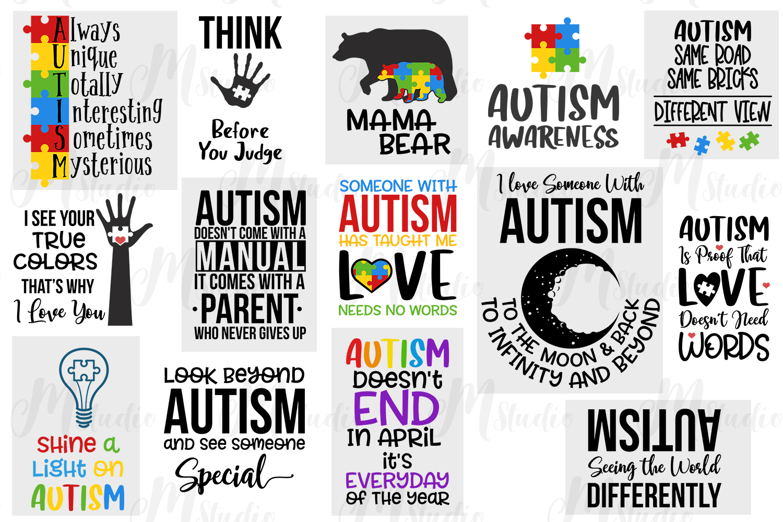 Autism Quotes svg bundle example image 2