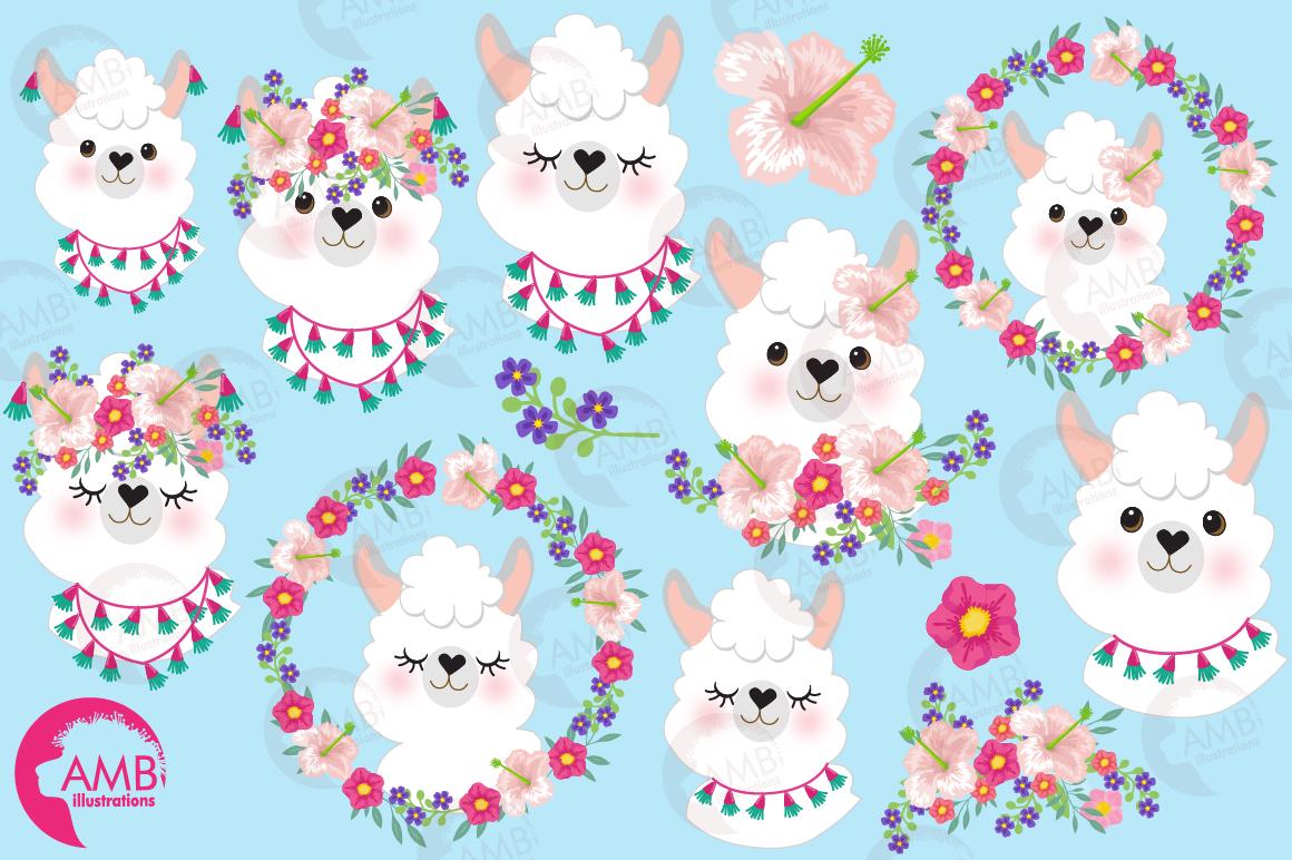Llama Ladies clipart, graphics, illustrations, AMB-2102 example image 4