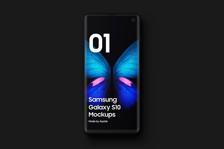 Samsung S10 - 21 Clay Mockups - 5K - PSD example image 7