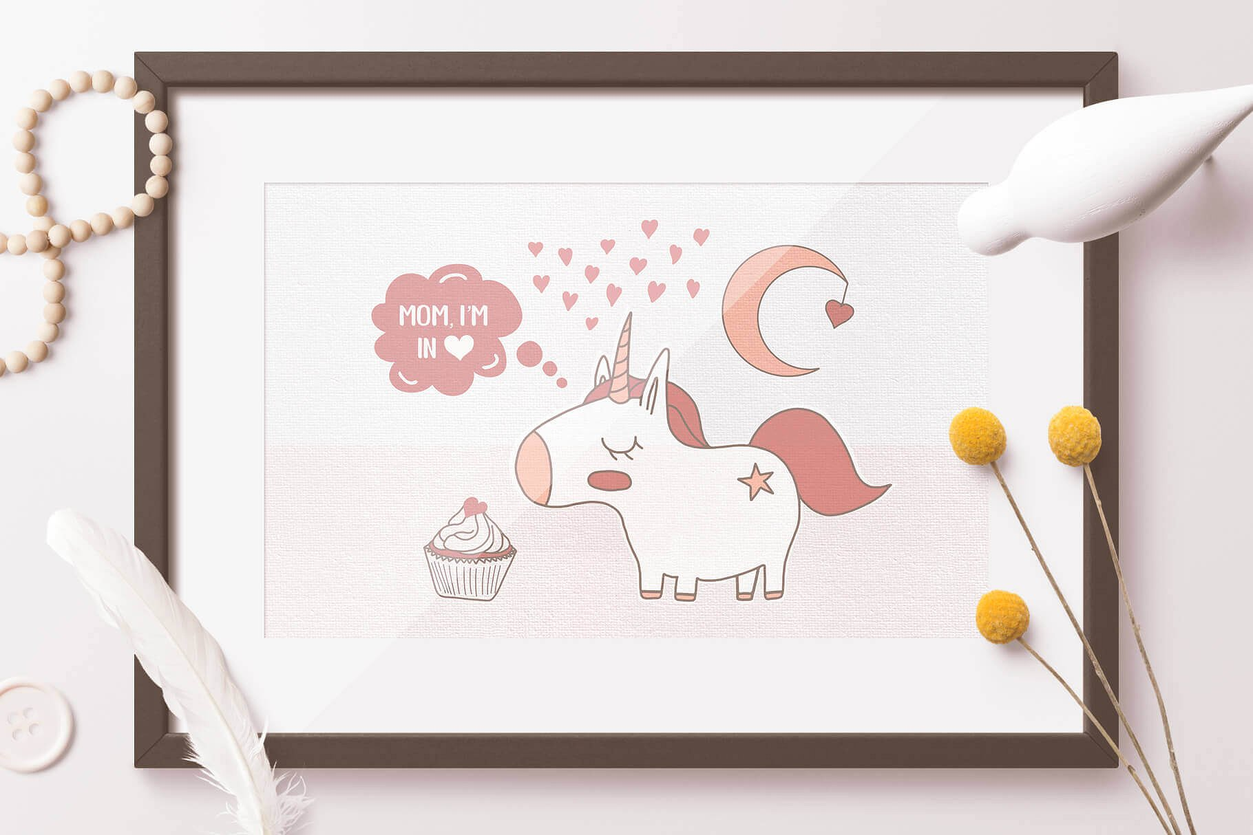 Mom! I'm in Love! Vector Set example image 3