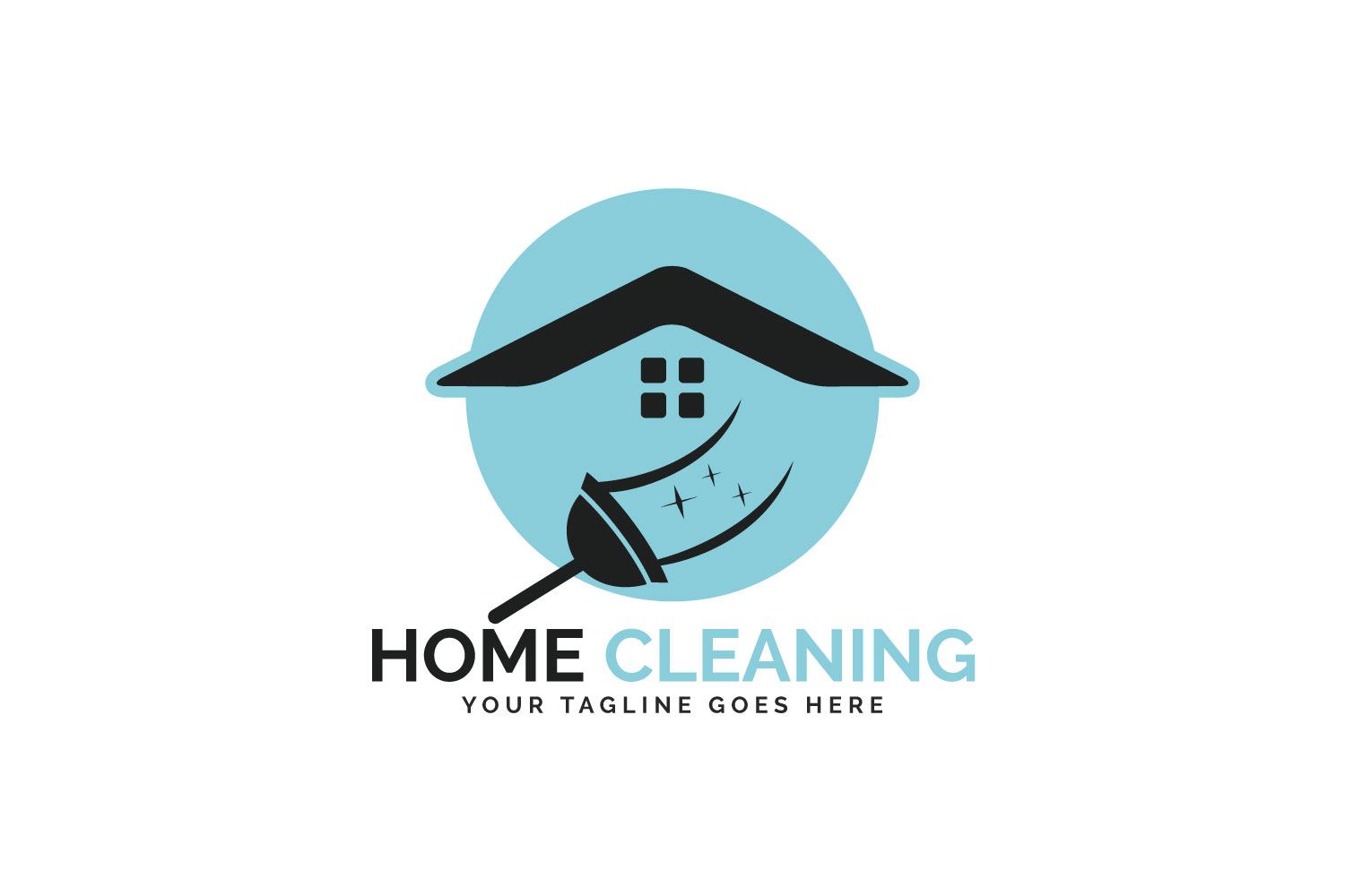 Home Cleaning Vector Logo Design. example image 1