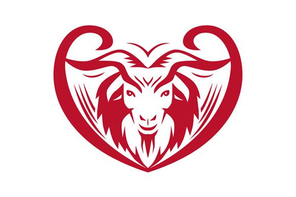 Cashmere Goat Head Retro example image 1