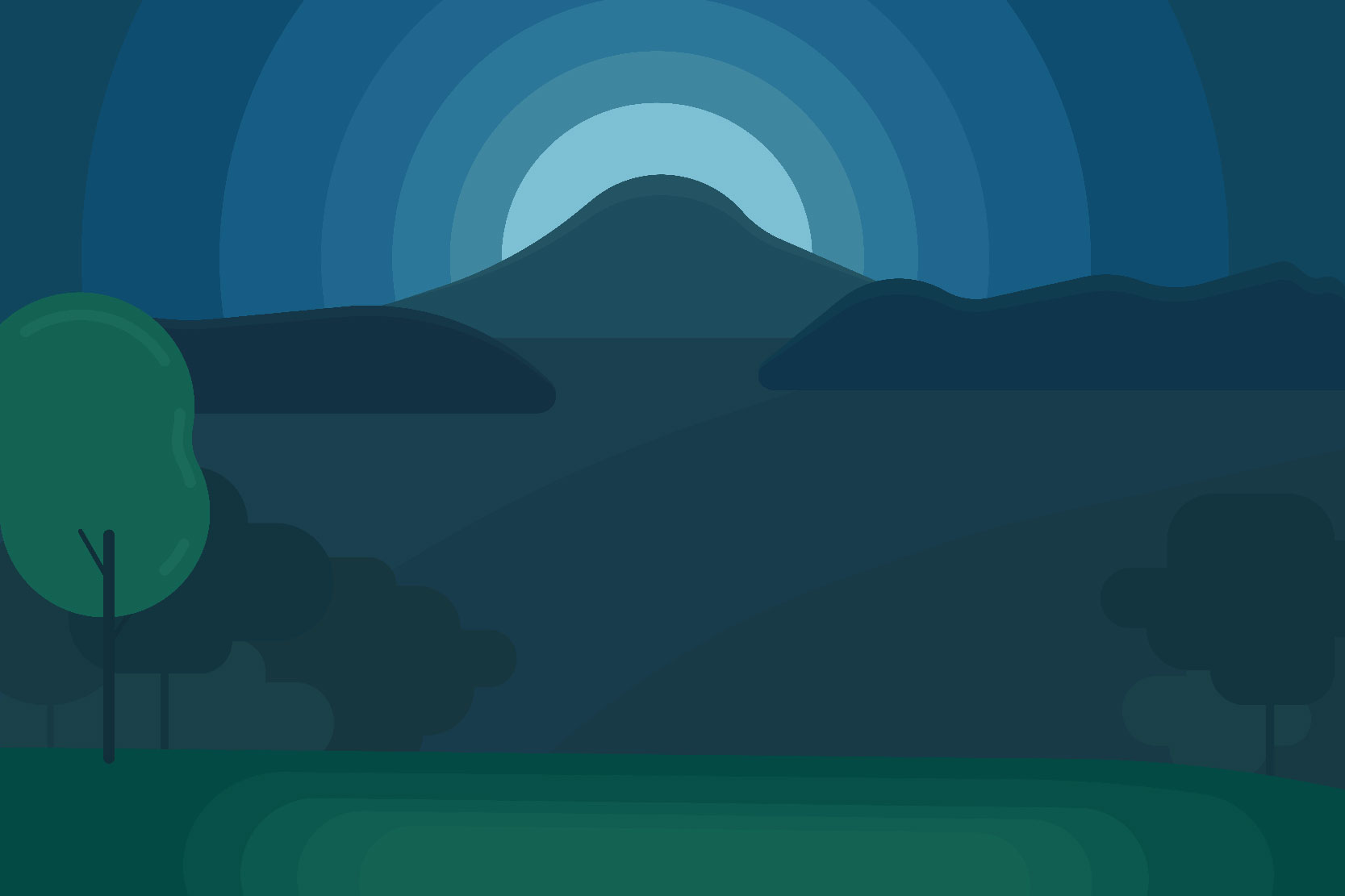 Mountain landscapes - Vector illustrations example image 6