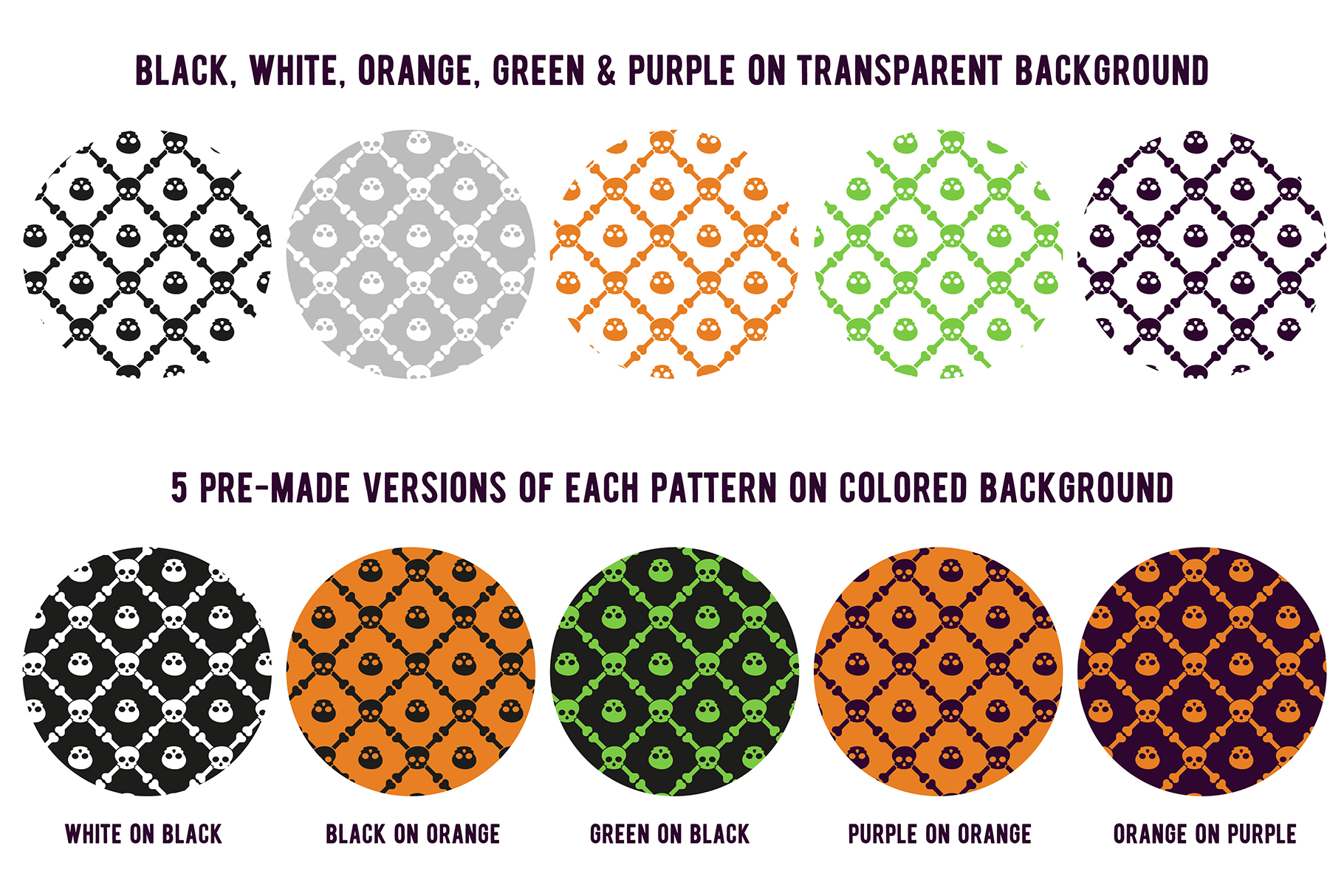 80 Halloween Seamless Vector Pattern Swatches example image 4