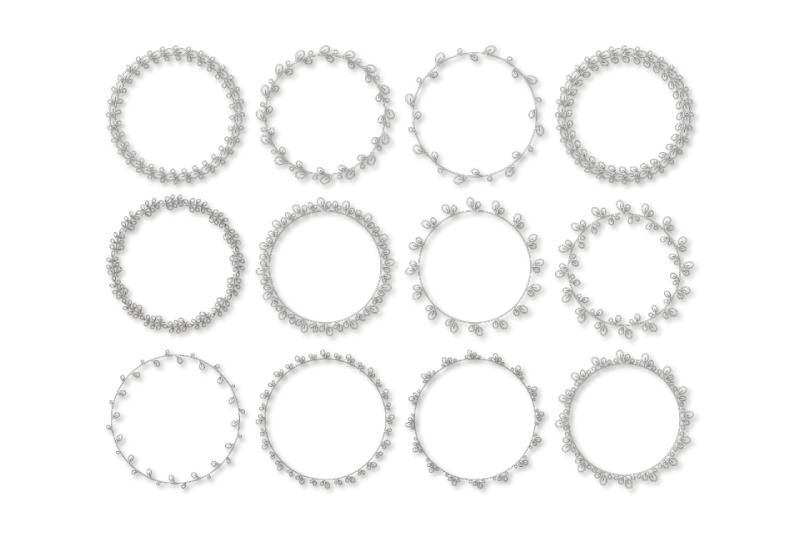 12 Round elegant frames svg. Spring frame example image 3