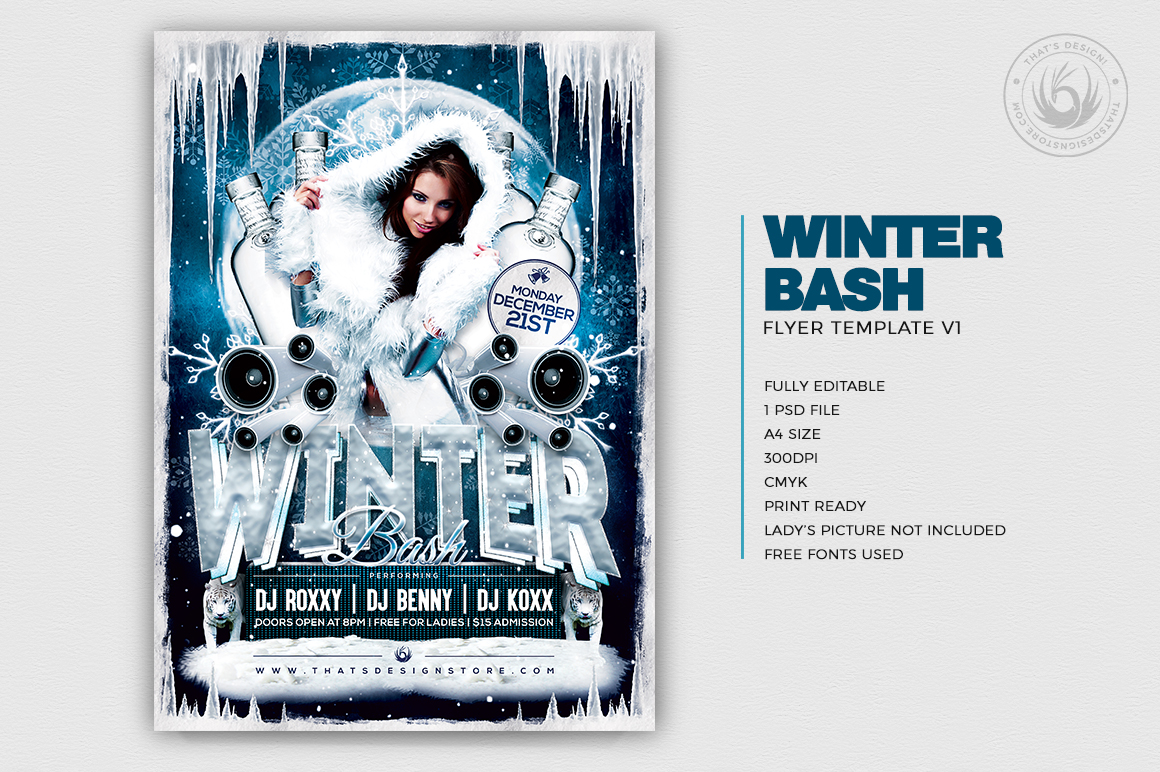 Winter Bash Flyer Template V1 example image 2