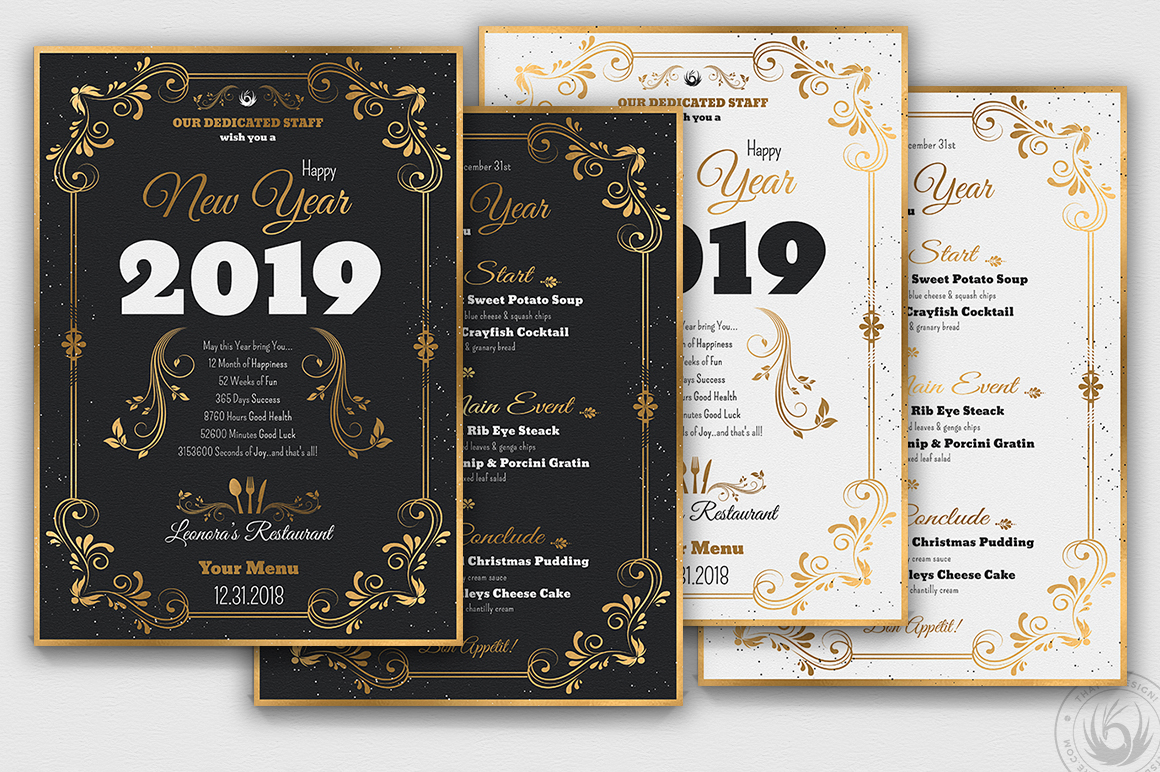 New Year Menu Template V1 example image 2