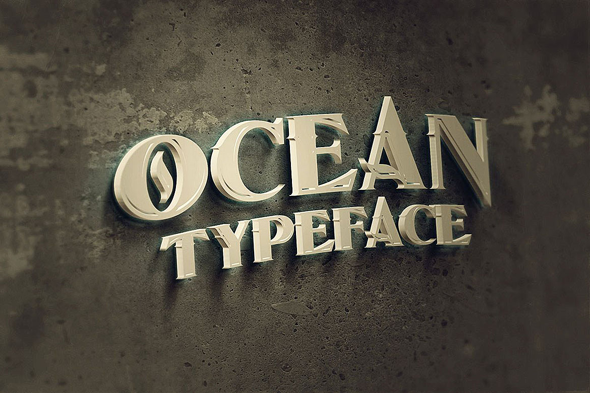 Ocean - Display Font example image 8