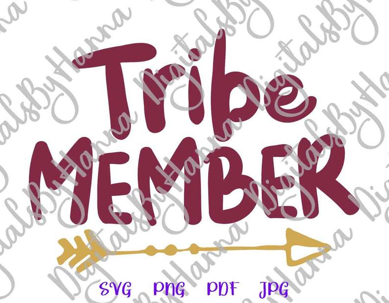 Tribe Member Sign With Tribal Arrow Print & Cut PNG SVG File example image 4