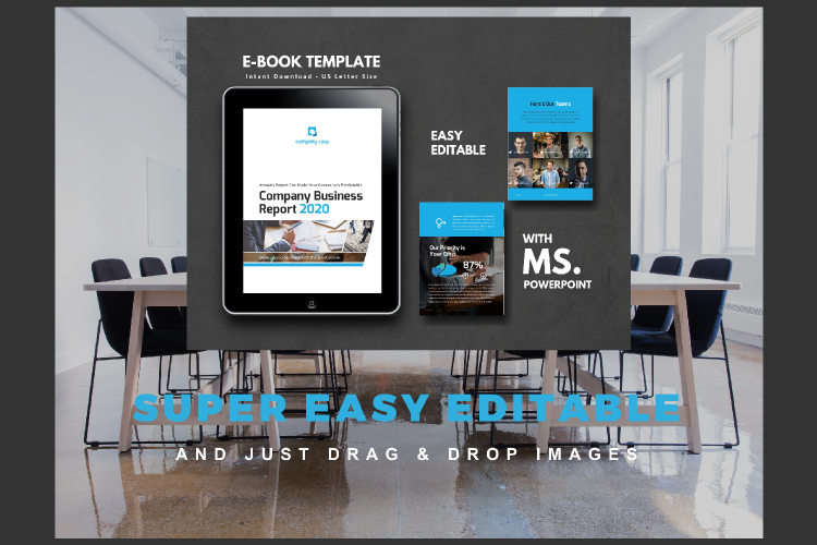 Business Report eBook Powerpoint Template example image 10
