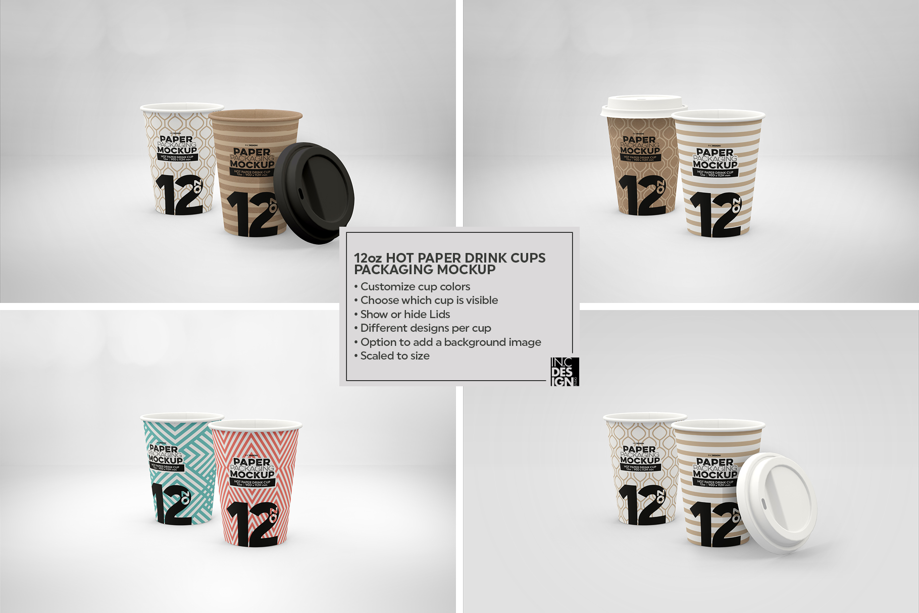Paper Hot Drink Cups Packaging Mockup example image 14