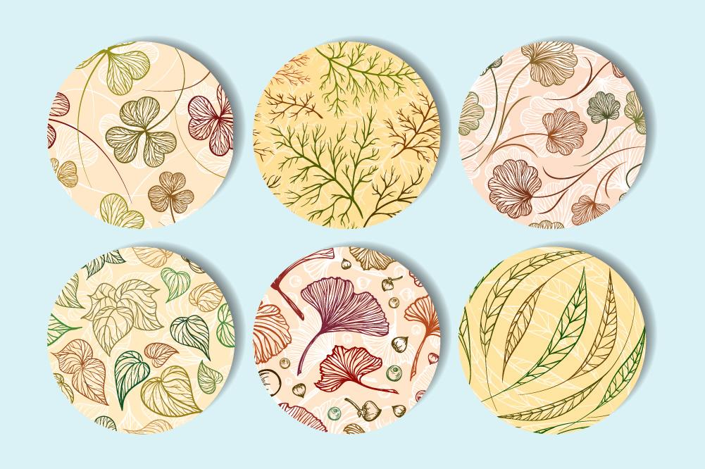 Herbal patterns set example image 2