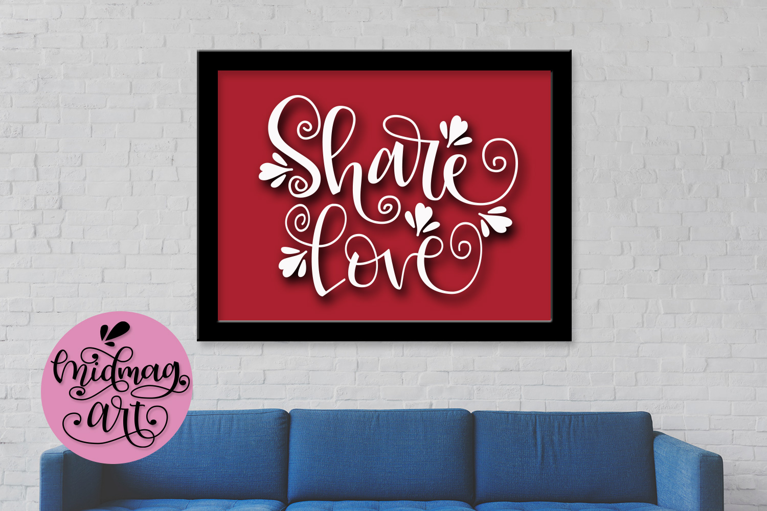 Share love svg, png, jpeg, eps and dxf example image 3