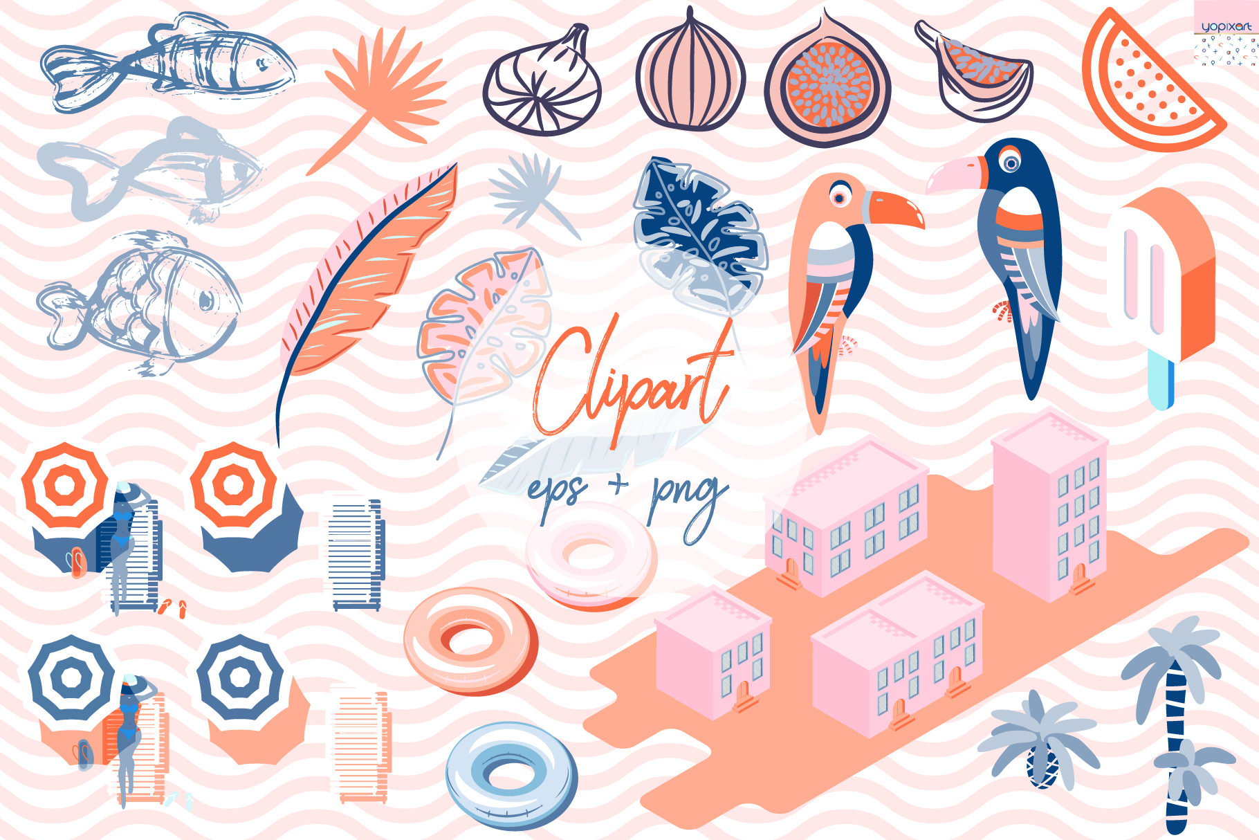 Summer Vibes - Graphics & Patterns example image 4