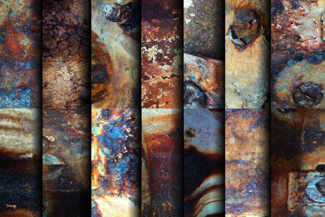 14 Rusted textures set. example image 2