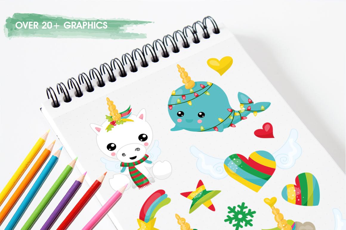 Christmas Wannabe Unicorns graphics and illustrations example image 3