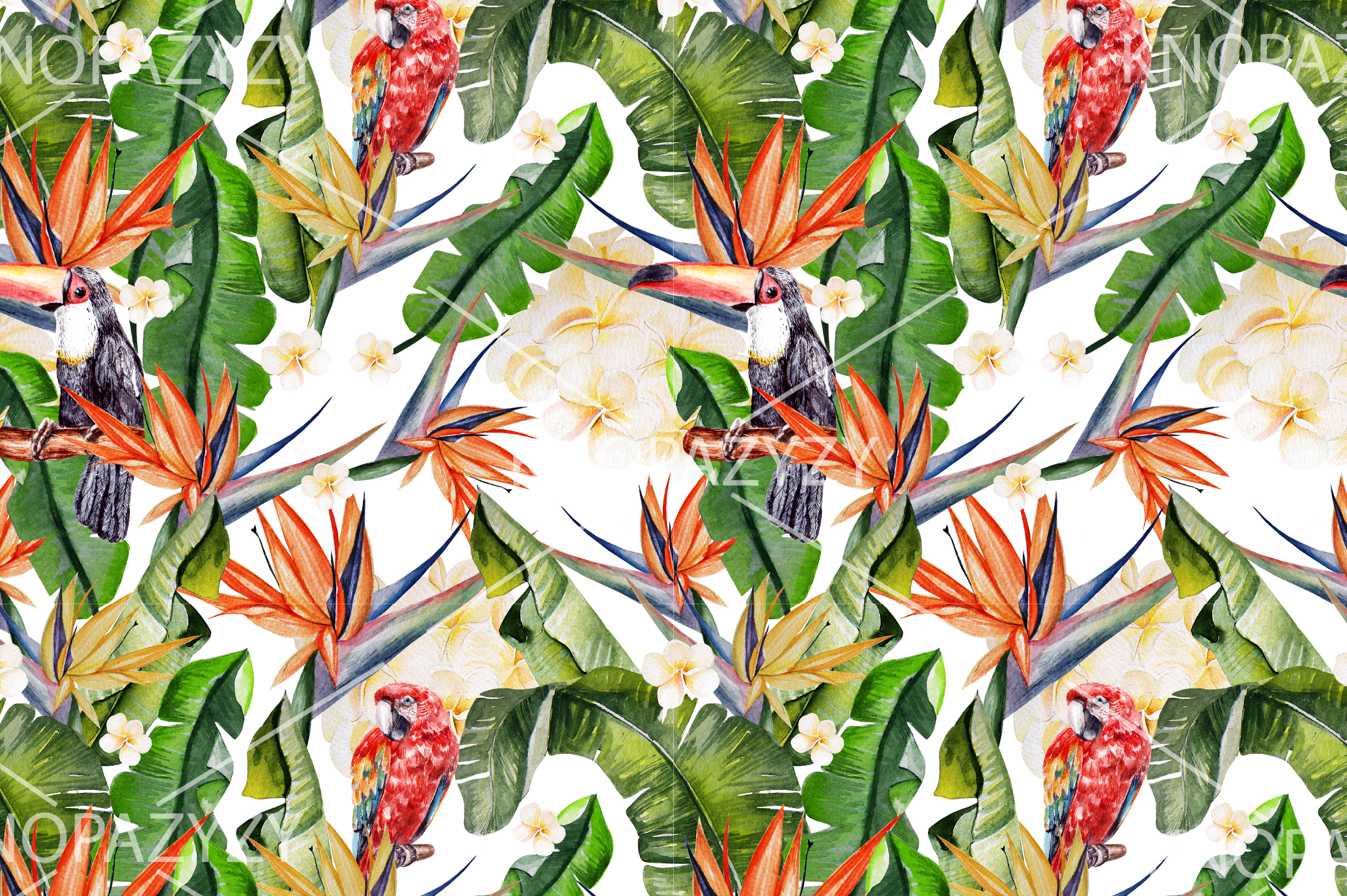 16 Hand Drawn Watercolor Pattern example image 17