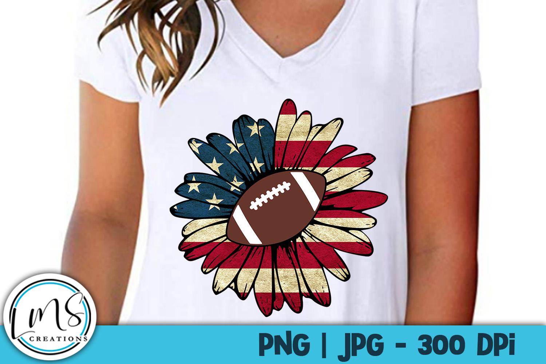 Patriotic Sunflower Sports Bundle PNG, JPG, Sublimation example image 4