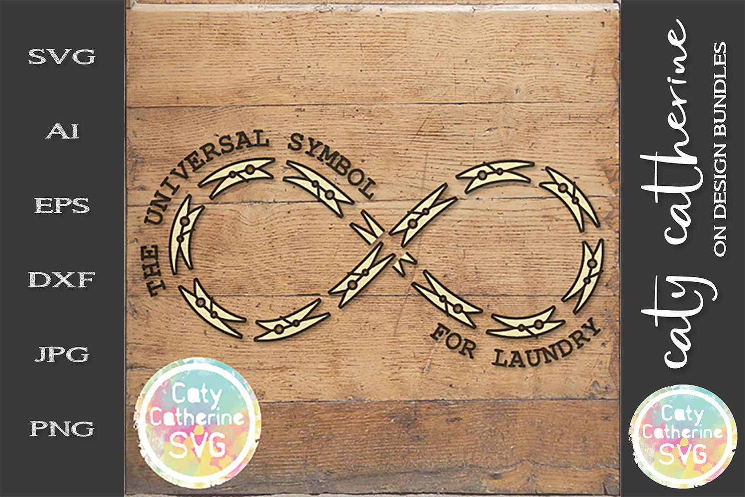 The Universal Symbol For Laundry Infinity Clothes Peg SVG example image 1