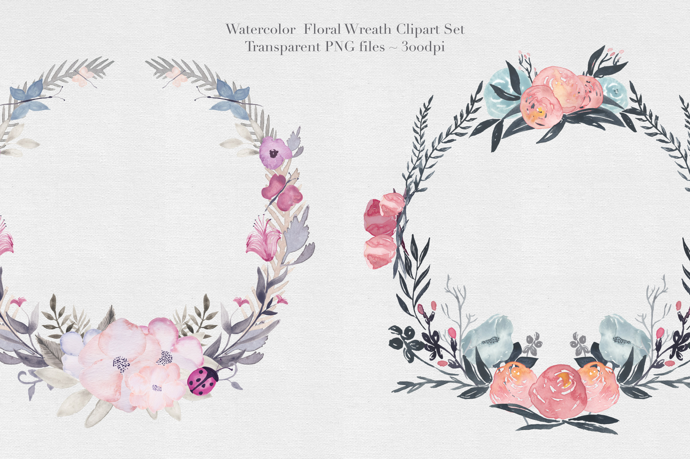 Watercolor Floral Wreaths Vol.2 example image 2