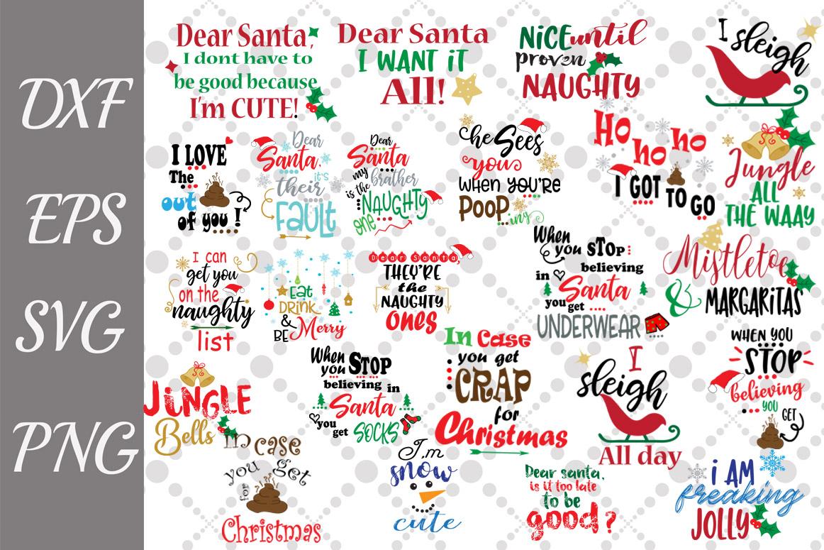 Bundle Christmas Quotes Svg, FUNNY CHRISTMAS SVG,Holiday Svg example image 1