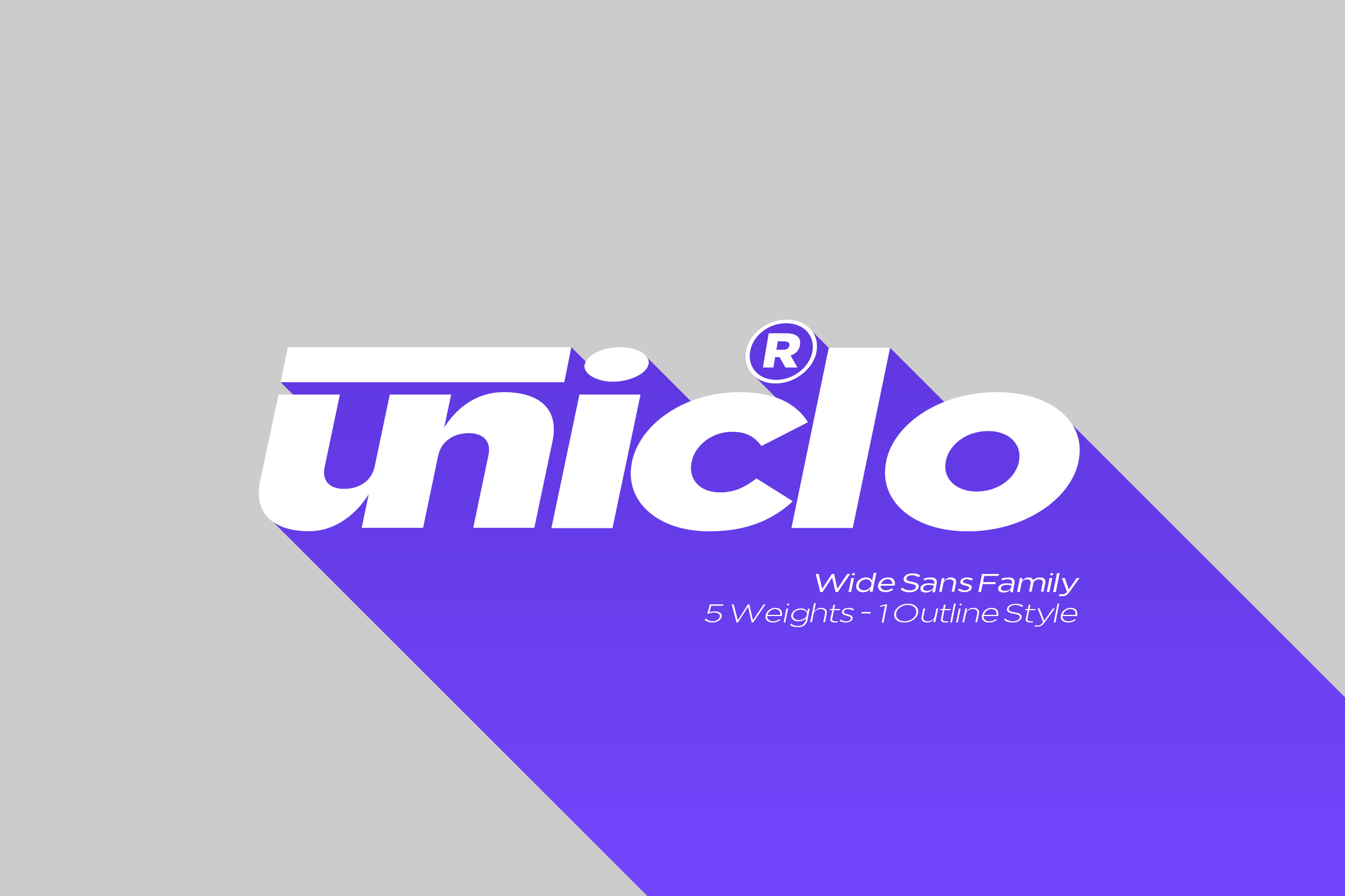 Uniclo Wide Sans Family Font example image 1