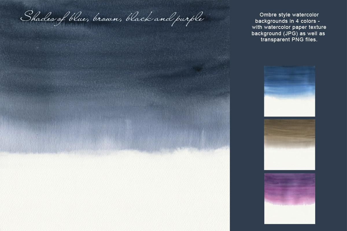 Dark Watercolor Backgrounds & Headers example image 8