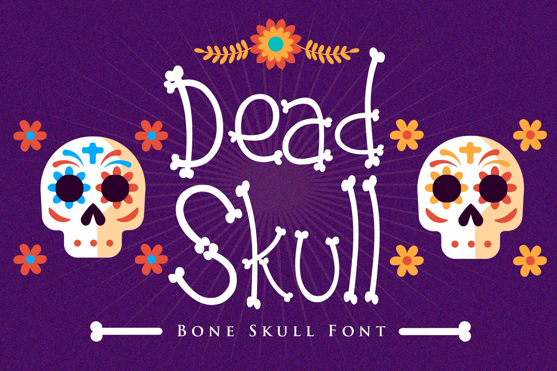 Dead Skull - Bone Skull Font example image 1