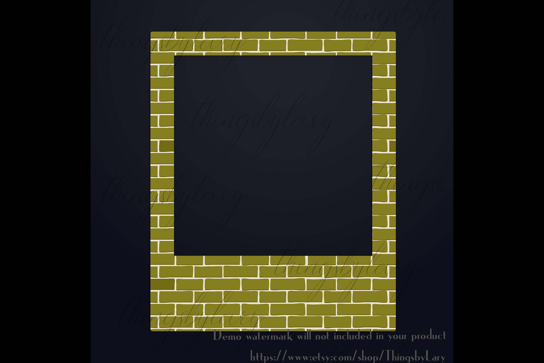 254 Brick Wall Polaroid Photo Booth Baby Shower Photo Frames example image 4