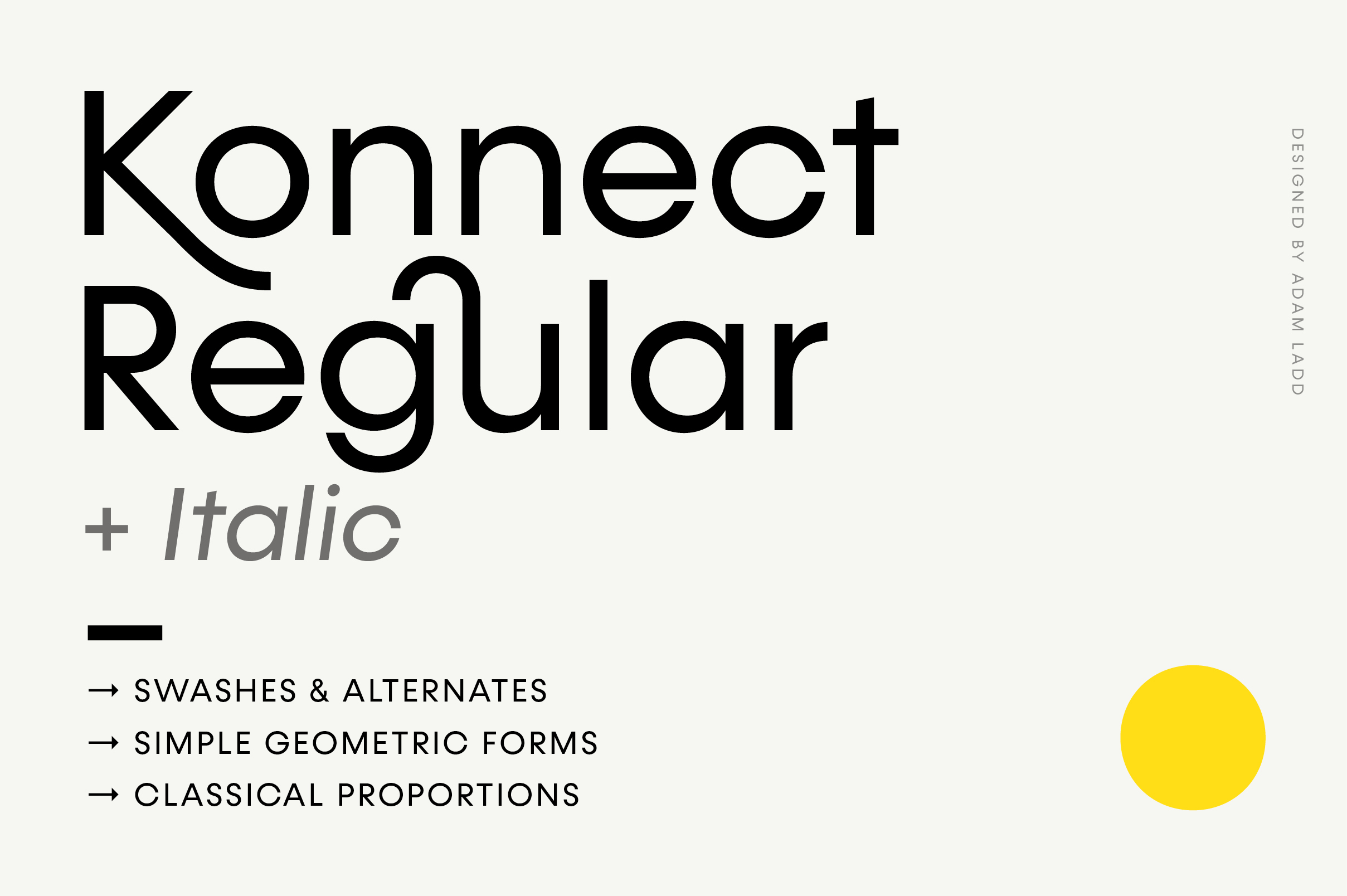 Konnect Regular & Italic Fonts example image 1