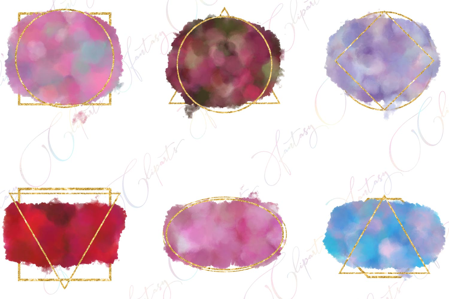 Watercolor Splashes Clipart example image 5