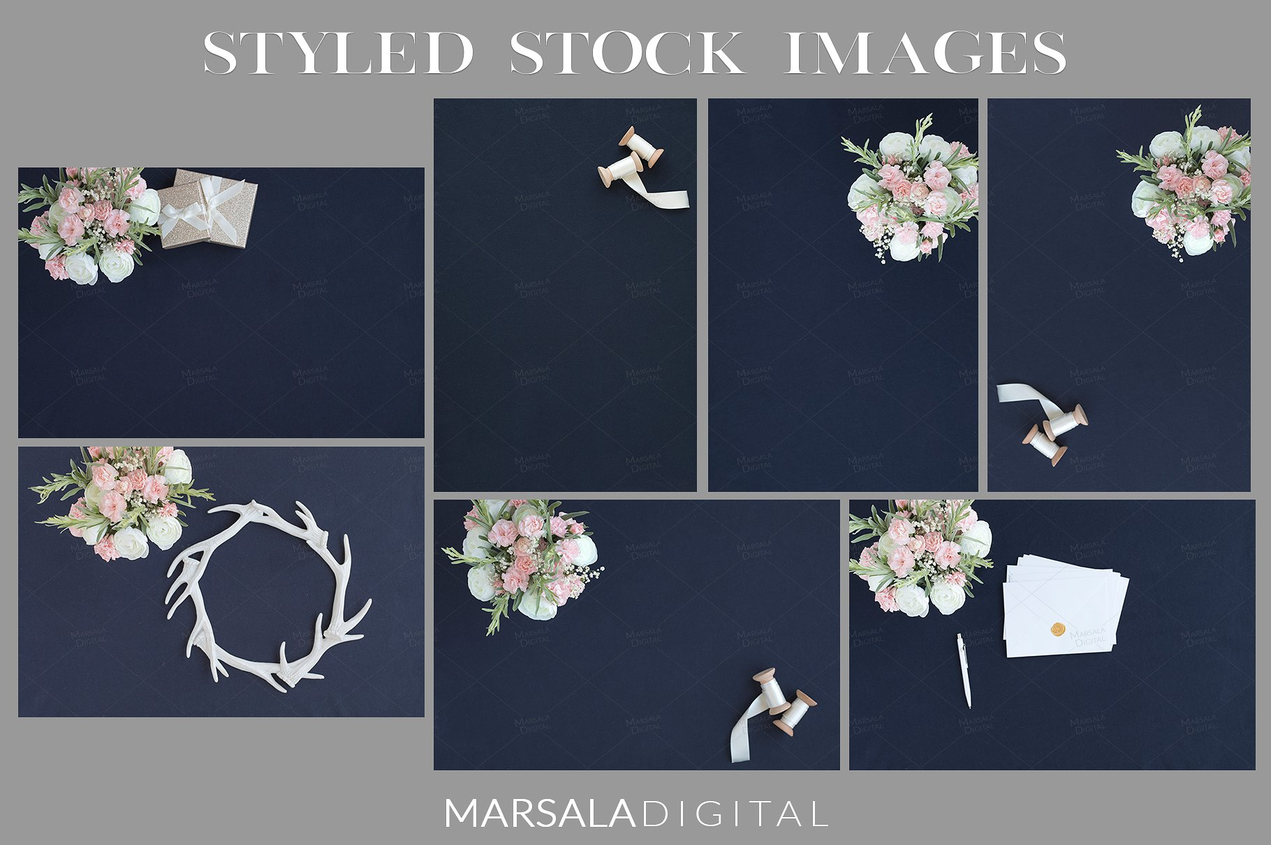 Blush and Navy Wedding Mockup Bundle example image 12
