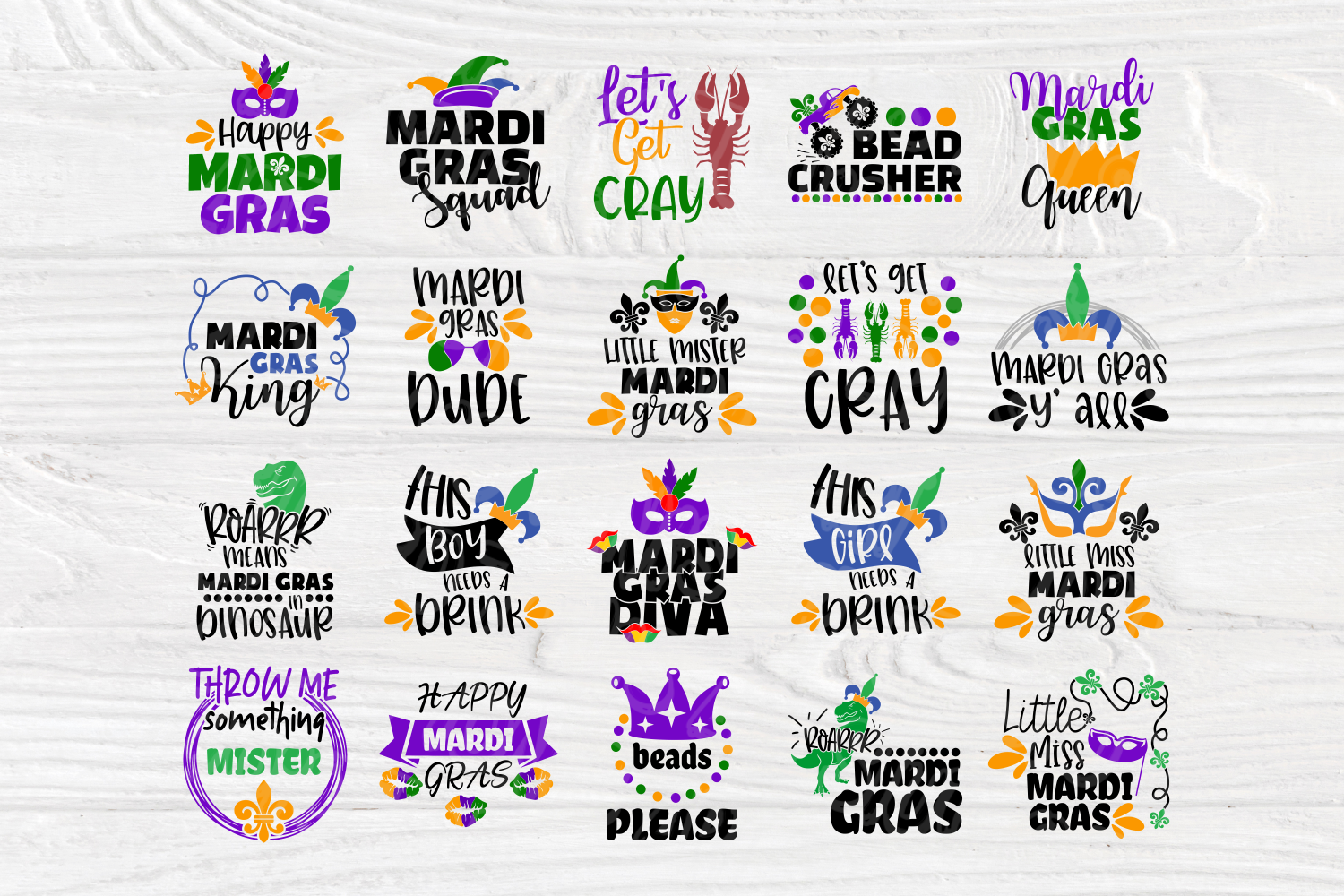 Mardi Gras Quotes | Cut Files for Crafters | Mardi Gras SVG example image 2