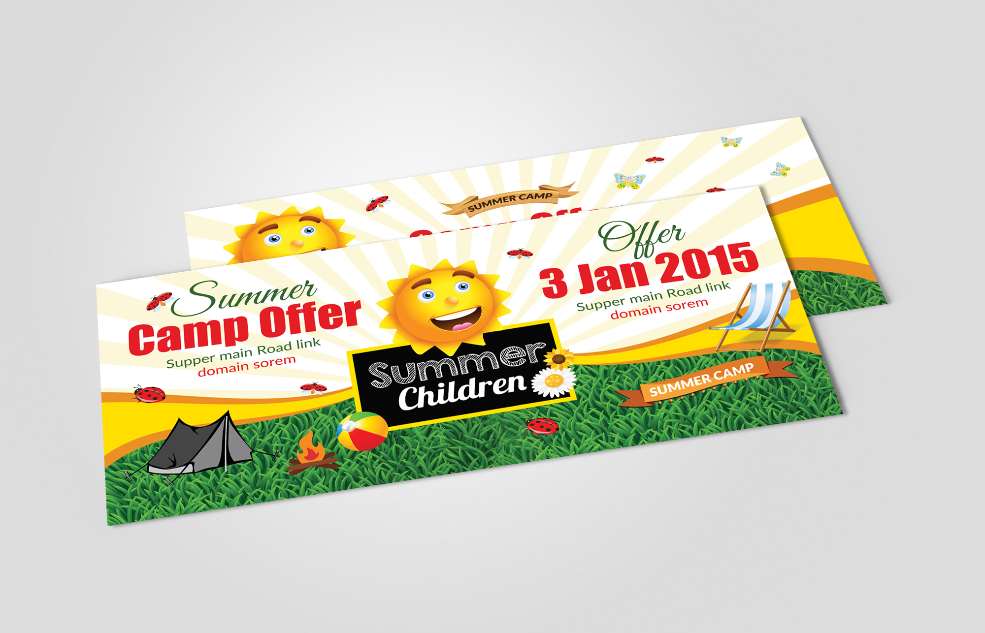 Kids Summer Camp Rack Card Template example image 2