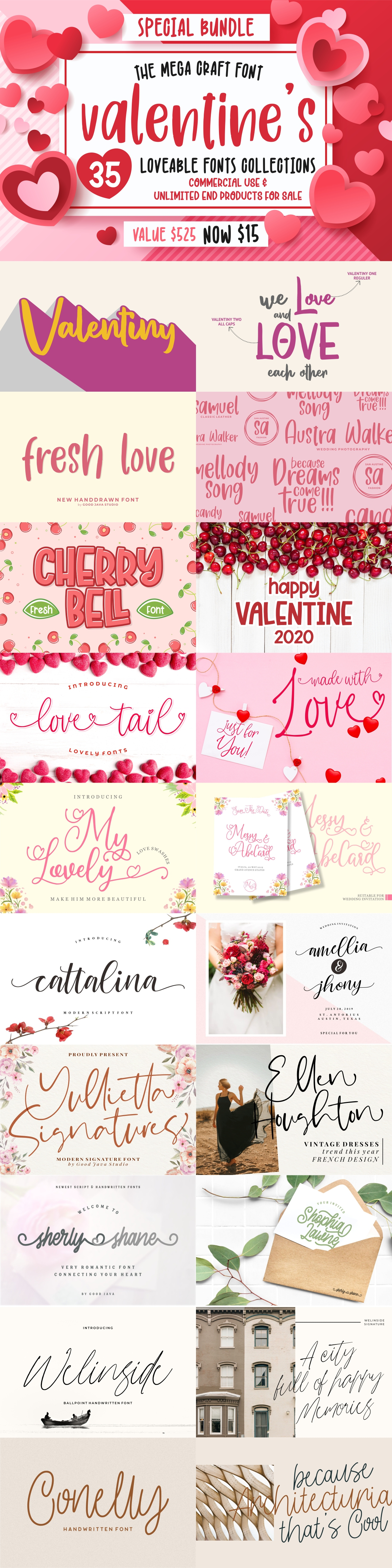 The Mega Valentine's Font Collections example image 2